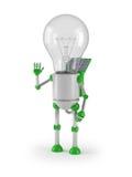 Glühlamperoboter - Gruß Stockfotos