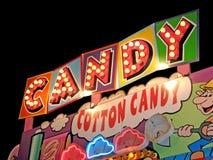 Glühlampezeichen der Süßigkeit Lizenzfreies Stockbild