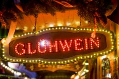 Glühwein sign Royalty Free Stock Photography