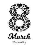 Gl?ckliche Frauen ` s Tagesgru?karte stock abbildung