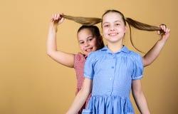 Gl?ckliche Kinder spielen zusammen Schwester zu haben ist immer Spa? Beste Freunde f?r immer Gl?ckliche Kindheit Mädchenschwester stockbilder