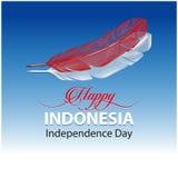 Gl?cklicher Indonesien-Unabh?ngigkeitstag stockbilder