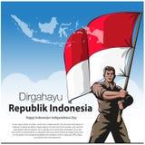 Gl?cklicher Indonesien-Unabh?ngigkeitstag lizenzfreie stockfotografie