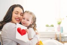 Gl?cklicher Mutter`s Tag lizenzfreie stockbilder