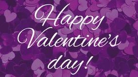 Gl?ckliches Valentinsgru?-Tagesvideo lizenzfreie abbildung