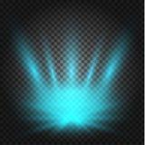 Gl?dande ljuseffekt, signalljus, explosion och stj?rnor vektor illustrationer