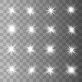 Gl?dande ljuseffekt stock illustrationer