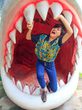 ględzi trwanie rekin kobiety Obrazy Stock