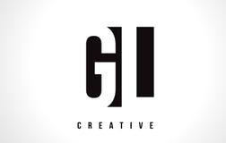 GL G L White Letter Logo Design with Black Square. Royalty Free Stock Photo
