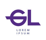 GL Logo Design Concept Royalty Free Stock Photo