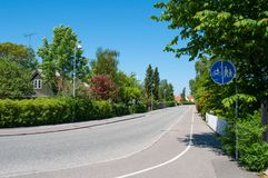 Gl Lyngevej em Allerod em Dinamarca Imagem de Stock
