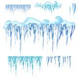 Glaçon de vecteur et clipart d'éléments de neige Chapeau différent de neige Photographie stock libre de droits