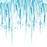 Glaçon de vecteur et clipart d'éléments de neige Chapeau différent de neige Images stock