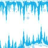 Glaçon de vecteur et clipart d'éléments de neige Chapeau différent de neige Photos libres de droits