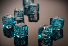 Glaçons bleus Photo libre de droits