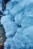 Glaçons d'une cascade congelée Photo stock