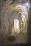 Glaçons dans la caverne Photo stock