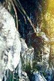 Glaçons dans les montagnes Photos stock
