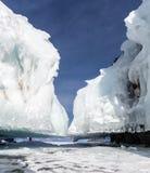 Glaçons de Baikal Photographie stock libre de droits