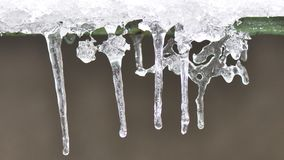 Glaçons de glace Photos libres de droits