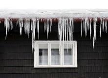 Glaçons de l'hiver Photo libre de droits
