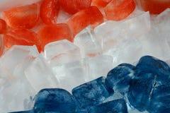 Glaçons patriotiques de rouge, blancs et bleus Photos stock