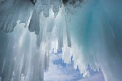 Glaçons sur le lac Baïkal photographie stock