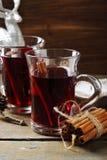2 glaas с горячим вином Стоковое Изображение RF