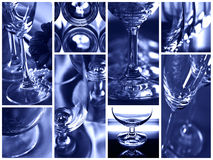 Glaases in collage Fotografia Stock