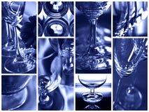 Glaases i collage Arkivbild