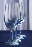 Glaases in row Stock Photography