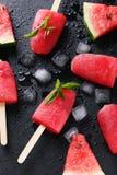 Glace à l'eau de pastèque Photos stock