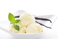 Glace à la vanille image stock