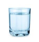 Glace avec de l'eau d'isolement Photo stock