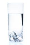 Glace avec de l'eau, d'isolement Images stock