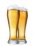 Glace avec de la bière Photos libres de droits
