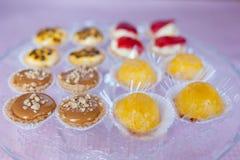 Glace avec des sucreries Image stock