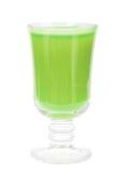 Glace avec du jus frais de vert-pomme Image libre de droits