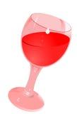 Glace avec du vin illustration libre de droits