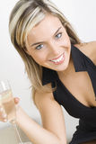 Glace avec du vin Photographie stock libre de droits