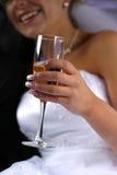 Glace avec le champagne Photos libres de droits