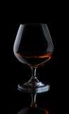 Glace avec le cognac Photographie stock libre de droits