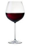 Glace avec le vin rouge Photo libre de droits