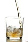 Glace avec le whiskey Photo stock