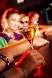 Glace avec martini Photographie stock libre de droits