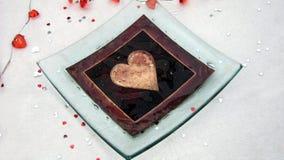 Glace avec un coeur décoration Amour Images stock