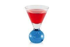 Glace avec une boisson alcoolisée Image libre de droits