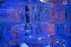 glace bleue photographie stock