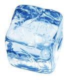 glace bleue de cube images stock