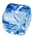 glace bleue de cube Photographie stock